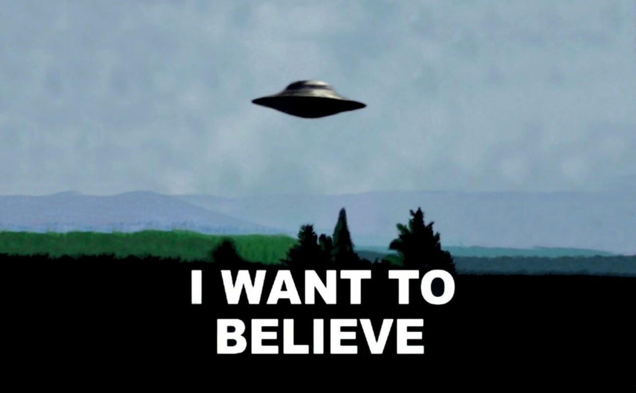 I want to believe, imágen icónica de Expediente X
