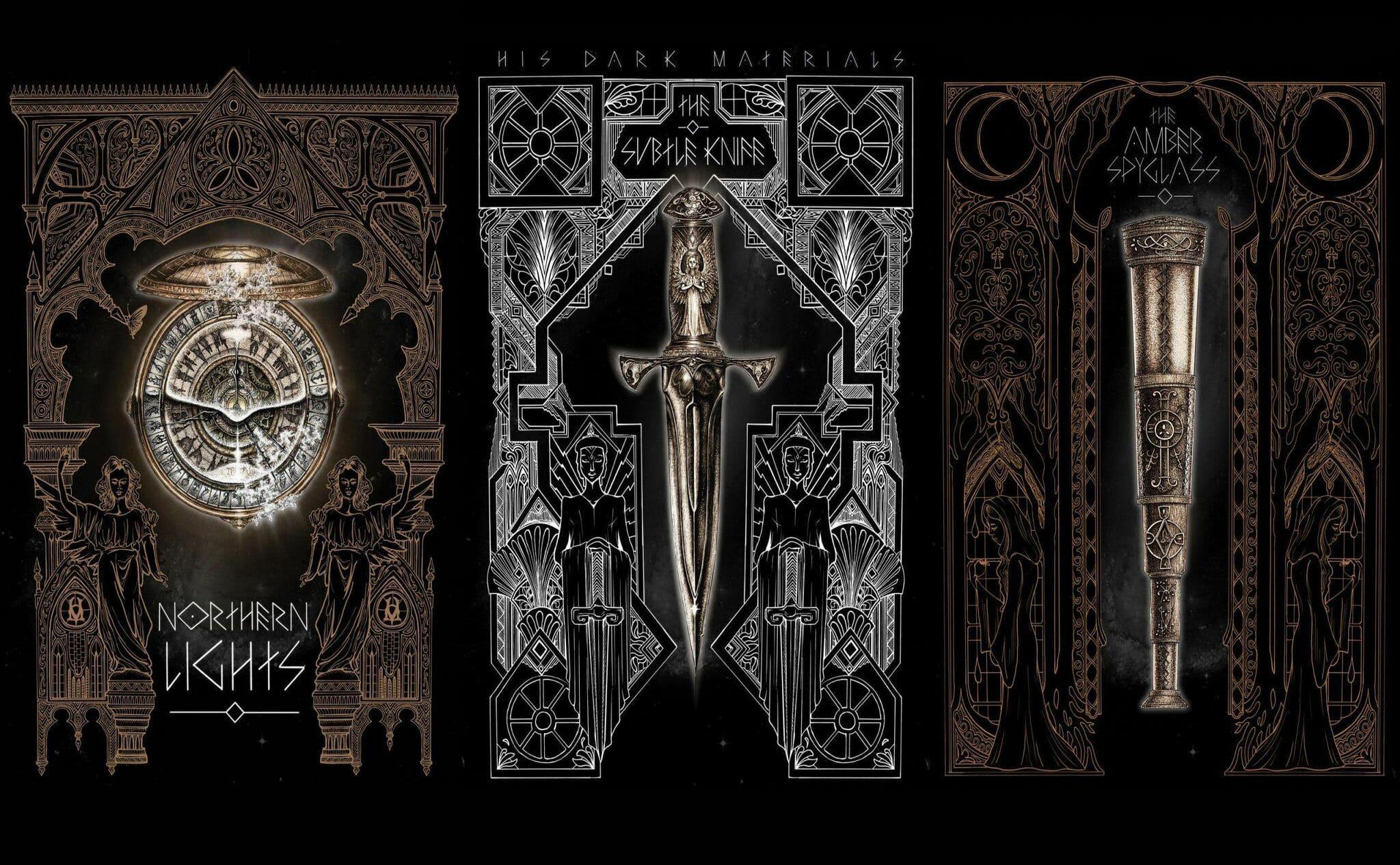los tres libros de La materia oscura