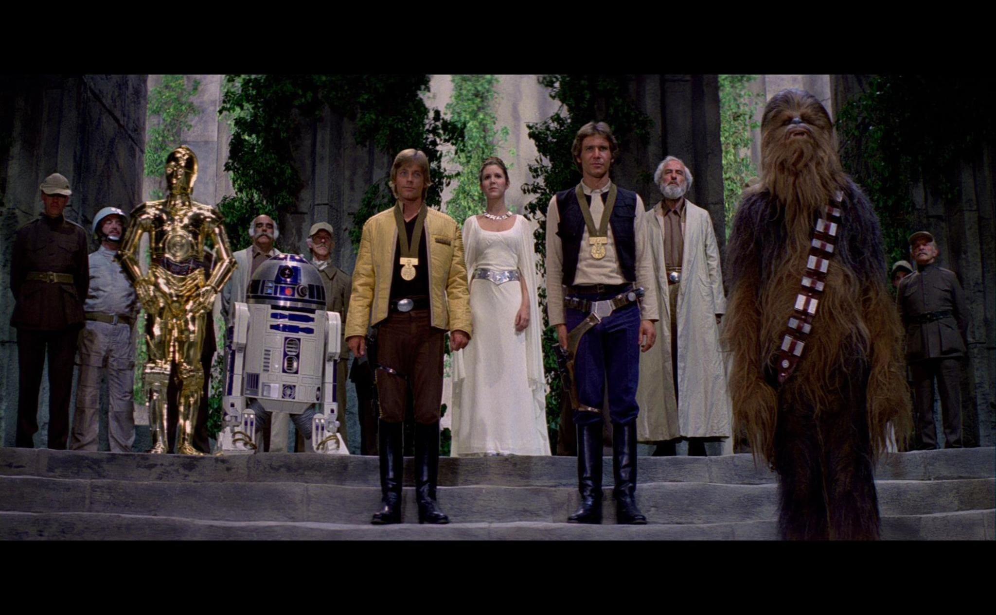 escena final de La guerra de las galaxias