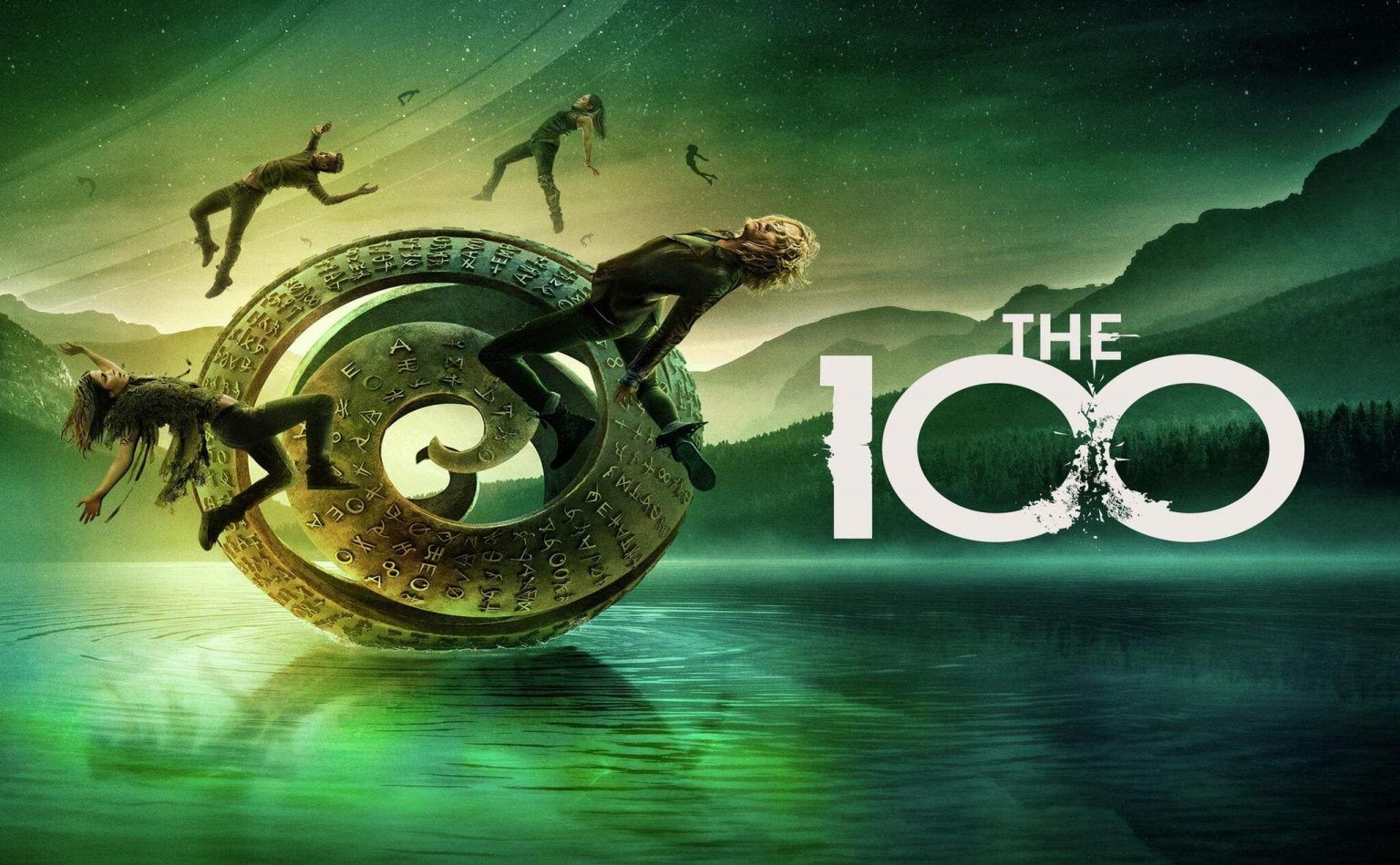 cartel de la temporada final de Los 100